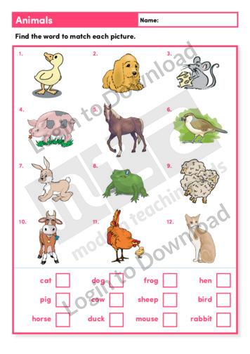 Animals (Level 1)