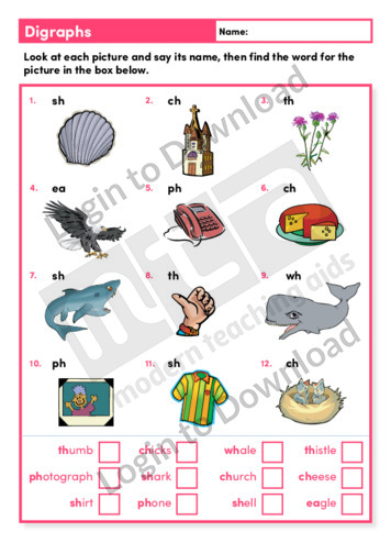 Digraphs (Level 2)
