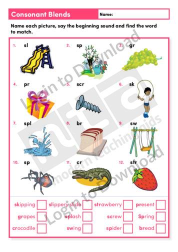 Consonant Blends (Level 2)