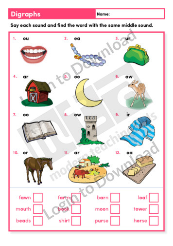 Digraphs 2 (Level 3)