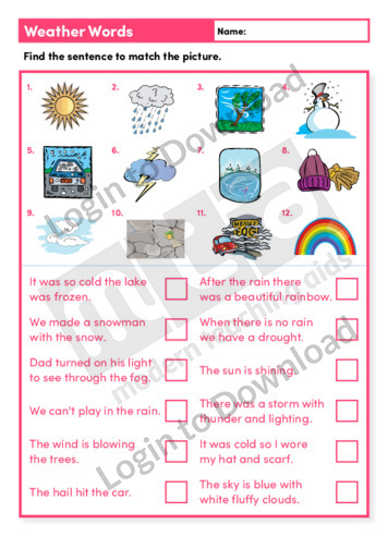 Weather Words (Level 3)