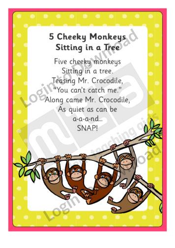 5 Cheeky Monkeys Sitting in a Tree