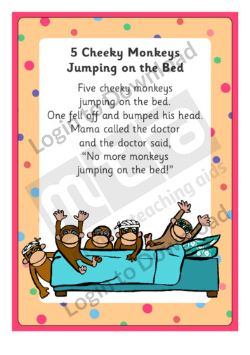 5 Cheeky Monkeys Jumping on the Bed