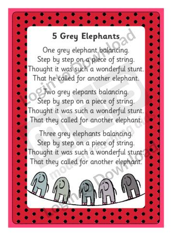 5 Grey Elephants