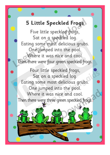 5 little speckled frogs song vimeo