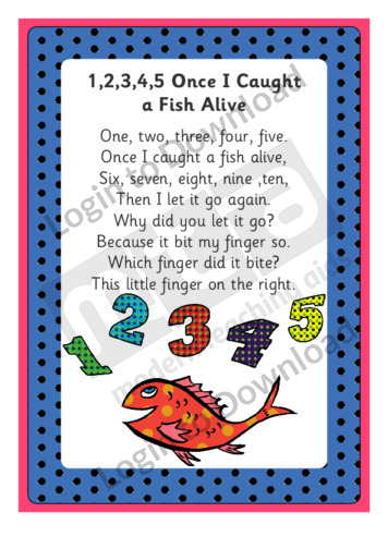 12345 Once I Caught A Fish Alive Worksheets | Imperialdesignstudio