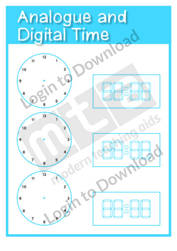 Analogue and Digital Time Clock Templates