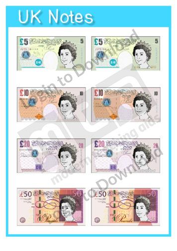 ... Money Template Pounds By Lesson Zone Au Money ...