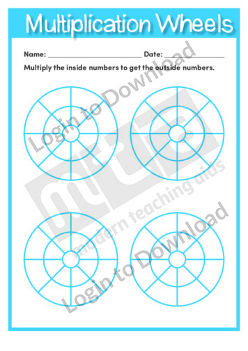 Multiplication Wheels Template