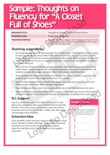 Thoughts on Fluency for A Closet Full of Shoes