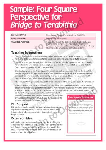 Four-Square Perspective for Bridge to Terabithia