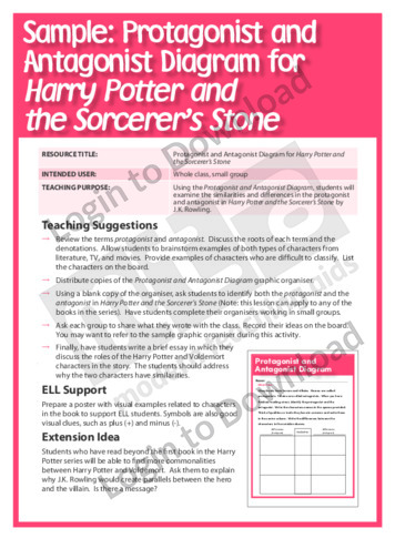 Protagonist and Antagonist Diagram for Harry Potter and the Philosopher's Stone