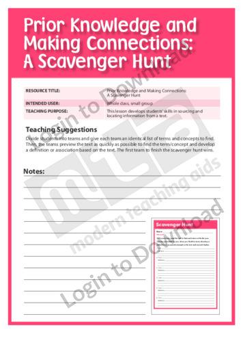 A Scavenger Hunt