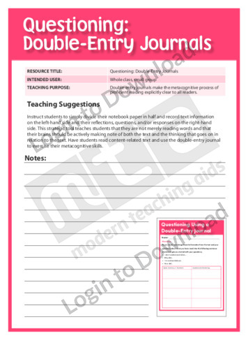 double entry journals the book An accounting entry into the general journal is called a journal entry  each  accounting entry made in the accounting journal maintains double entry.