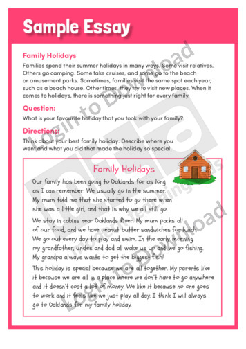 Family essay sample