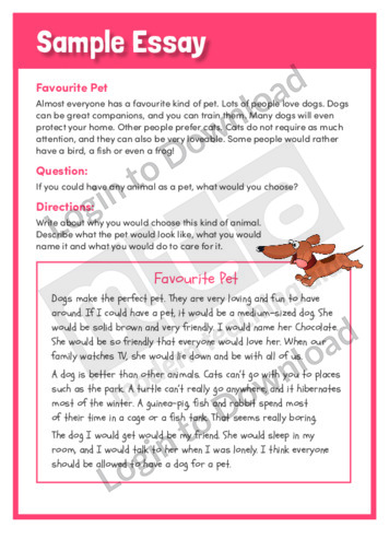 My Pet Dog Essay-Writing