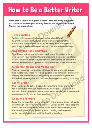 How to Be a Better Writer (Level 5)