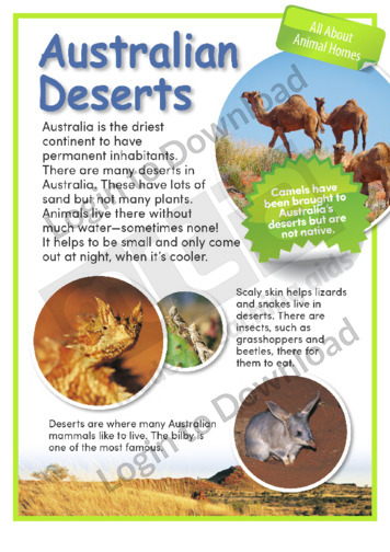 Australian Deserts