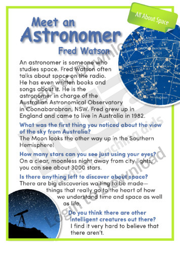 Meet an Astronomer