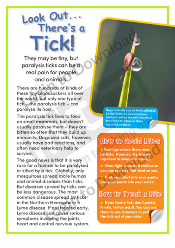 Look Out …There's a Tick!
