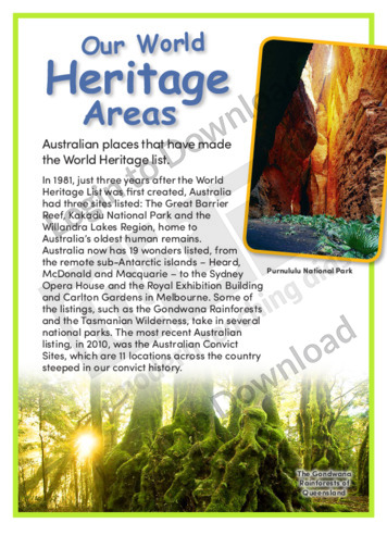 World Heritage Areas