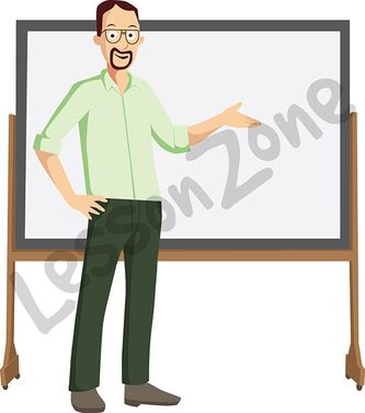 Man teacher standing