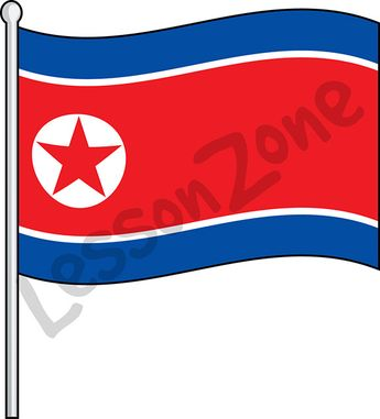 North Korea, flag