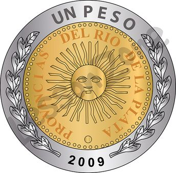 Argentina, $1 coin