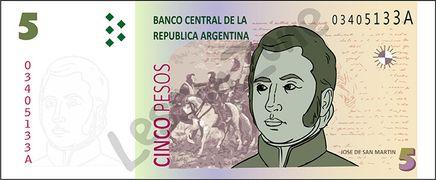 Argentina, $5 note