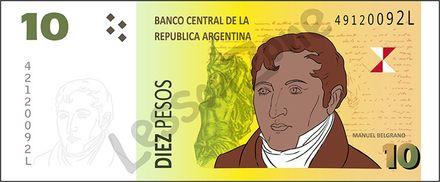 Argentina, $10 note
