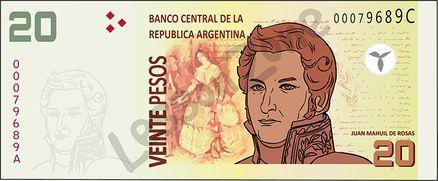 Argentina, $20 note