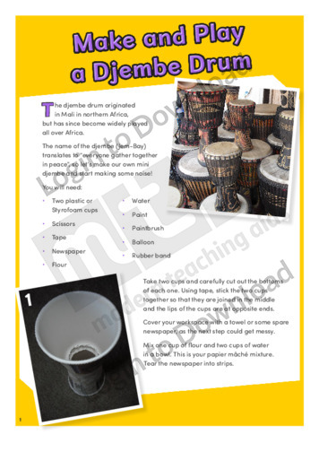 Make and Play a Djembe Drum