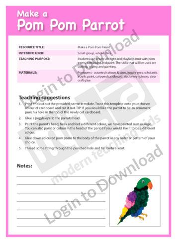 Make a Pom Pom Parrot