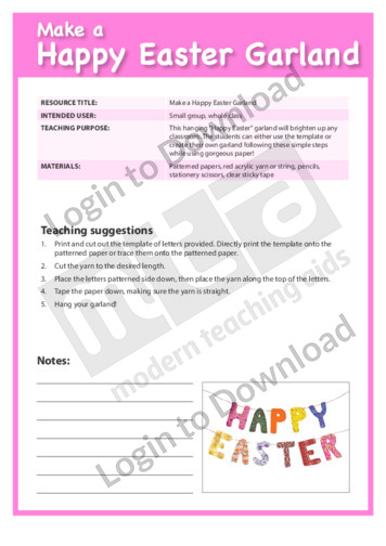 Make a Happy Easter Garland