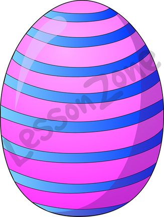 Stripy Easter egg