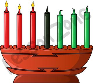 Kwanzaa candle holder
