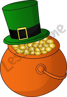 Green top hat and pot of gold