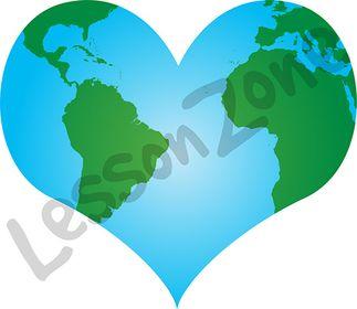 Globe and heart