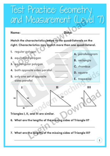 Geometry and Measurement (Level 7)