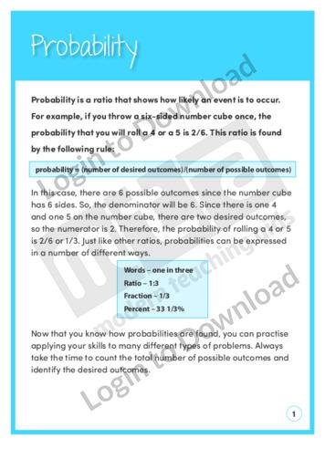 Probability 2 (Level 8)