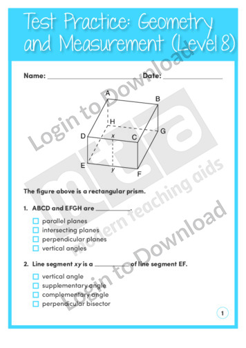 Geometry and Measurement (Level 8)