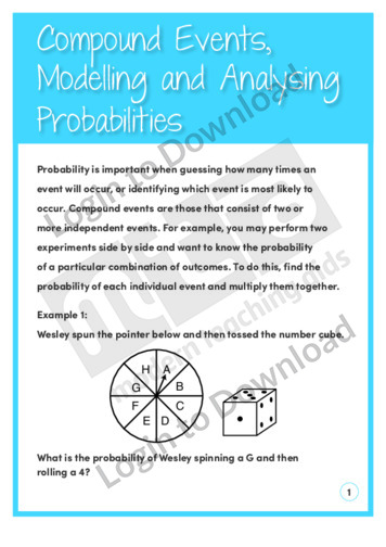 Compound Events, Modelling and Analysing Probabilities