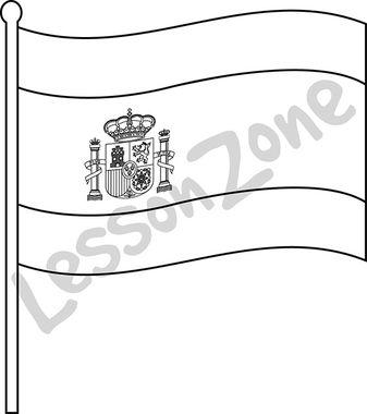 Spain Flag Symbol Black And White