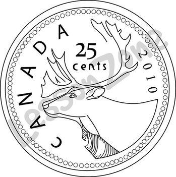 Lesson Zone AU - Canada, 25c coin B&W