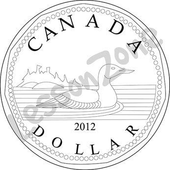Canada, $1 coin B&W