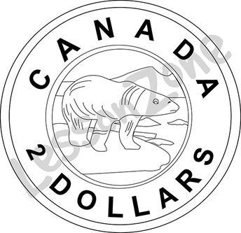 Canada, $2 coin B&W