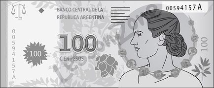 Argentina, $100 note B&W