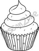 Cupcake  B&W