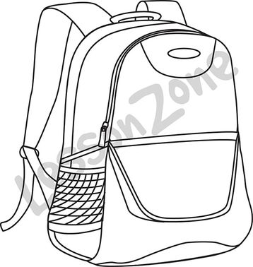 Book bag B&W