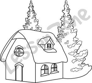Gingerbread house B&W